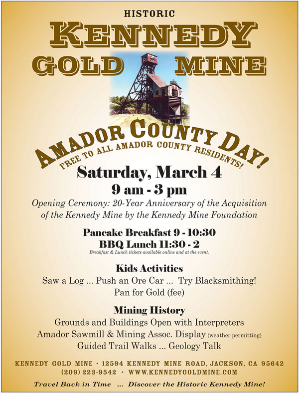 Amador County Day at the Kennedy Gold Mine